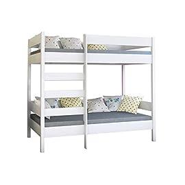 Dino bunk bed 160x80x160 White Legno letto a castello in legno per bambini