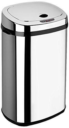 Dihl - Papelera con sensor (30 L, forma rectangular), color cromado