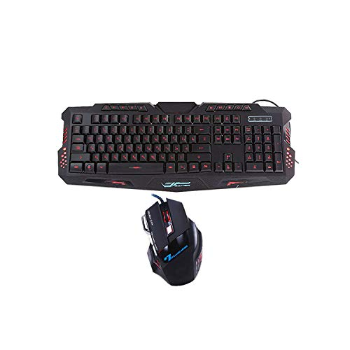 Gaming-Tastatur-Maus mit Hintergrundbeleuchtung und Buntem Gaming-Licht, 7