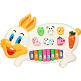 Musical Rabbit Piano With Flashing Light Toy Gift For Kids