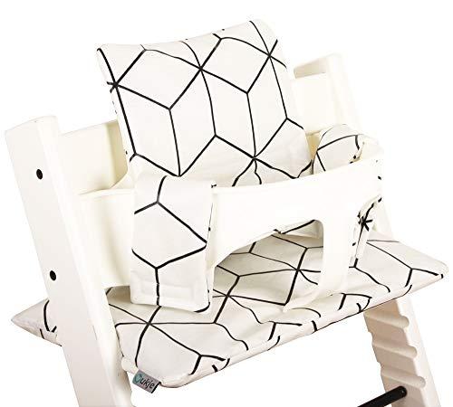 Cuscino Stokke Tripp Trapp Set ♥ Plastificato ♥ Geometrico bianco