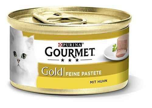 Gourmet Purina Gold Feine Pastete mit Huhn, Hochwertiges Katzennassfutter, 12er Pack (12 x 85 g...