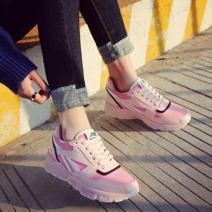 hexiajia 22.5cm-25ccm chaussure femme chausson à tige haute chaussure à lacet chaussure blanche noir rose Rose
