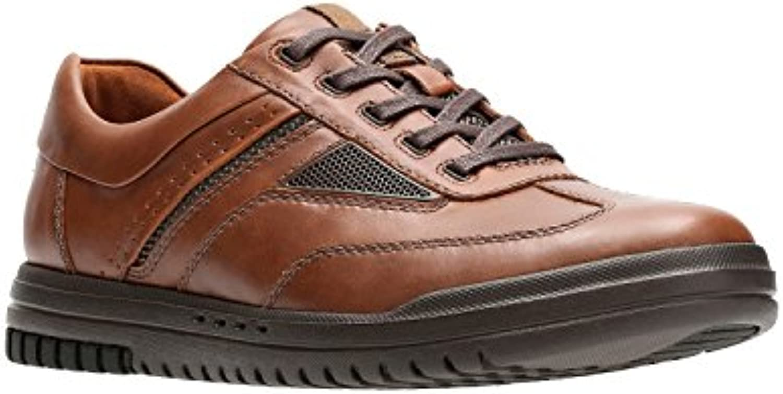 Clarks Men's UnRhombus Fly Brown Leather 10 EE US