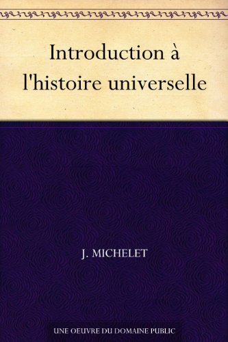Couverture du livre Introduction à l'histoire universelle