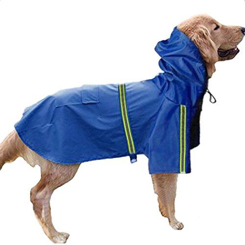 Legendog Regenmantel Hund Dog Regenjacke Verstellbarer wasserdichter Schnee Proof Haustier Lieferungen 3XL-5XL (Jacke Proof Schnee)