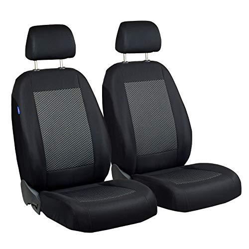 Zakschneider Matrix Vorne Sitzbezüge - für Fahrer und Beifahrer - Farbe Premium Schwarz-graue Dreiecke - Auto Sitzbezüge Toyota Matrix