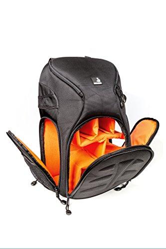 Bodyguard Outdoor Fotorucksack * Schnellzugriff * Stoß Protektor * Regenschutz * für mittlere bis große Ausrüstung + Daypack * SLR-Kamerarucksack für DSLR mit angebautem Objektiv + 3 Objektive + Blitzgerät + Stativ-befestigung