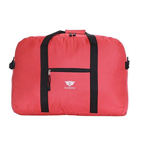 Slimbridge Ryanair Maximal Größe Leichter Faltbare Weekender Handgepäck Reisetasche Umhängetasche - 55 cm 44 Liter 250 Gramm, Tarbet Rot