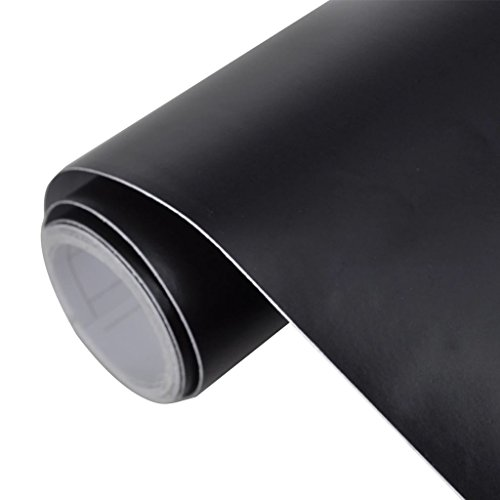 Autofolie aus PVC, umweltfreundlich, wasserdicht, 200 x 152 cm, wasserdicht, blasenfreie Anbringung für Ihre Fahrzeuge, Schwarz matt