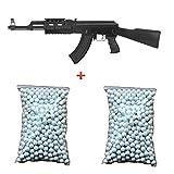 CYMA Pack Cadeau Airsoft Fusil d'assaut AK47 RIS AEG Noir 6mm 0.5 Joule 2 Sachet de 600 Billes Offert ! -...