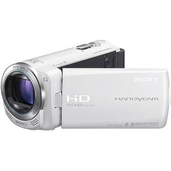 Sony HDR-CX250EW Full-HD Camcorder (7,5 cm (3 Zoll) LCD-Display, 30x opt. Zoom, 8 Megapixel, 29mm Weitwinkel, bildstabilisiert) iAUTO weiß