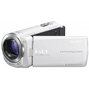 Sony HDRCX250 Caméscopes à mémoire Flash Port SD/Memory Stick Full HD 8,9 Mpix Zoom optique 30x Blanc