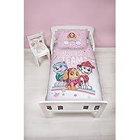 Paw Patrol Pastel's Children's Cot Bed Duvet Junior Toddler Bedding Duvet Cover | Pretty Pink Design