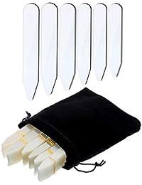 Blulu 600 Pezzi Colletto Stecca in Plastica Collare Stecche Ossa Irrigidimenti per Camicia da Uomo, 6 Formati Misti (Chiaro)