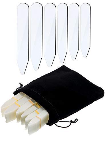 600 Stücke Kragen Bleibt Kunststoff Kragen Bleibt Knochen Versteifungen für Herren Hemd, 6 Gemischte Größen (Klar) - Hemd Kragen Versteifungen