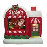 5pie hinchable de Papá Noel Navidad Papá Noel taller Patio Decoración