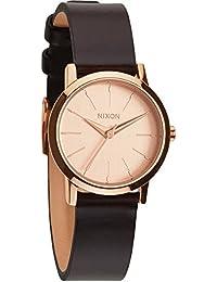 Nixon Damen-Armbanduhr XS Kenzi Analog Quarz Leder A3981890-00