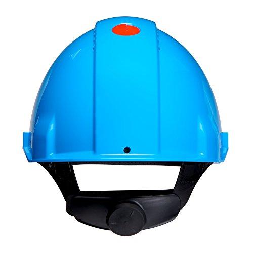 3M Peltor Schutzhelm G3000, G30NUB, mit 3M Uvicator Sensor, ABS, mit Schweißband und Ratschensystem, belüftet, blau