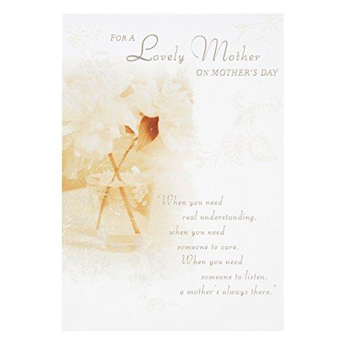 Hallmark Muttertagskarte mit Fotografie von Blumen –Mittelgroß