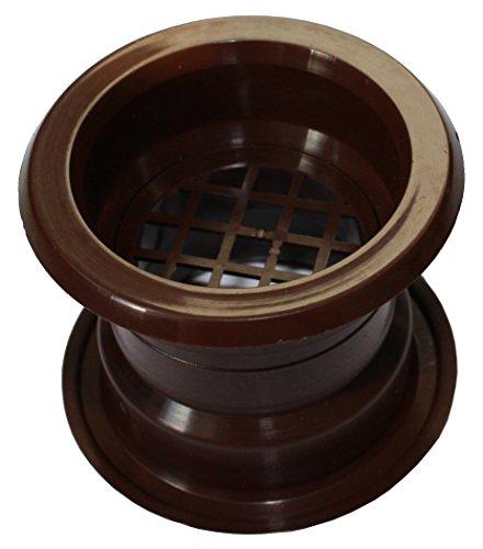 Aria cerchio collare mini vent griglia di ventilazione porta copertina noce 4 pezzi