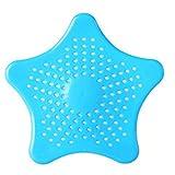 Romote Küche Abfluss-Haar-Catcher Bad Stopper-Wannen-Bassin-Sieb-Filter Dusche Falle - Blau, 16cm