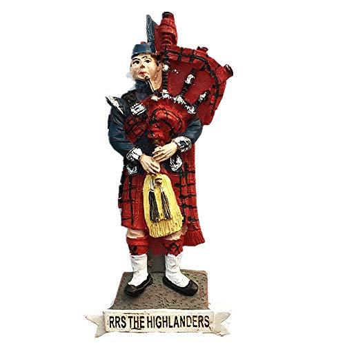 MUYU Magnet Kühlschrankmagnet, 3D-Dudelsack und Karo-Rock von RRS The Highlanders Scotland UK...