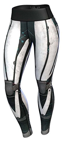 Anarchy Apparel Robota Sport  Compression Leggings ,Schwarz/Weiß,XS