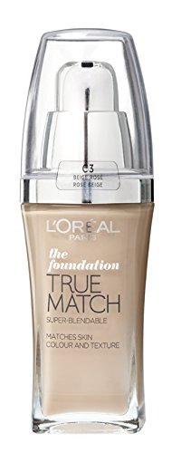 L'Oreal Paris True Match Foundation - 30 ml, Rose Beige 30ml (Number C3)