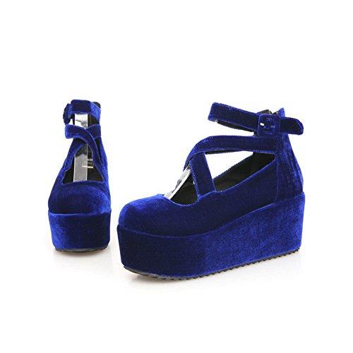 BalaMasa Womes sul pompe, Scarpe con tacco alto Blue