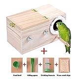 Hölzerne Vogel Nistkasten, Sittich Wellensittich Kanarienvogel Zucht Box, Vogel Schachteln Feeding Station House