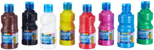 Giotto 5351 schoolpack 8 flaconi tempera pronta acrilica, 250 ml