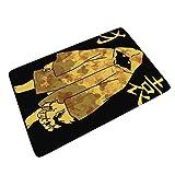 XunYun-Mat Ape-Man - Felpudo de Goma de poliéster para Cocina, Comedor, Pasillo, baño, diseño de Moda, Blanco, 24x35 Inch