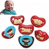 Kyz Kuv avril Fool's Day Gagtooth lèvres-Sucettes-Sucette Anneau de Dentition Tétine de bébé