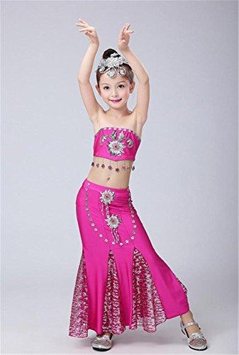 spectacles de danse Girl Costume / costumes de scène pour enfants Rose
