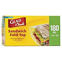 Glad Sandwich Fold Top Bags - 180 Count