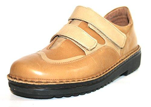 Naot , Chaussures de ville à lacets pour femme beige Braun (toffee/cocoa/combinat) 41 Braun (british/tan/seq)