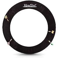 Kings Dart Surround | Auffangring, Backboard für Dartscheiben mit Ø von 44.5 cm | Schutz für Wand u. Darts | Weicher Kunststoff | Schwarz | 72x72 cm