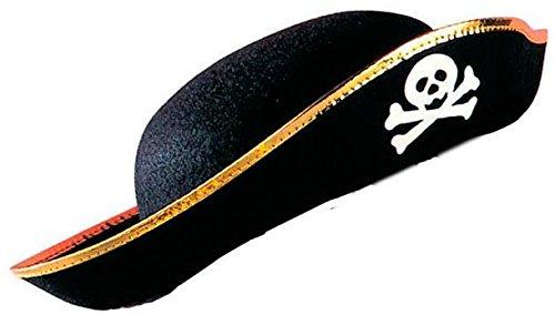 Video Delta Cappello da Pirata Nero in Feltro