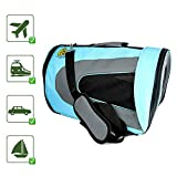 Pet Magasin [Extra 50% OFF] Soft-Sided Pet Travel Carrier for Cats, Small Dogs, Puppies and Other Pets (Large, Blue)