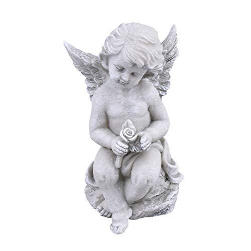 Dadeldo Home Engel Classica Deko-Figur Resin 16x10x9cm grau