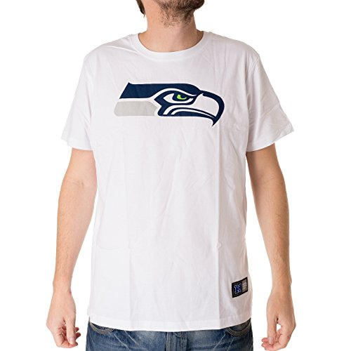 Seahawks Seattle American Football T Shirt Tee White Weiss Größe S -