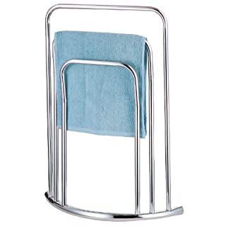 Top Home Solutions® Free Standing Chrome 3 Bar Towel Rail Rack Holder