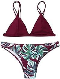 92bce3eb7 QUICKLYLY Bikini Tankini Mujer 2018-2019 Push up brasileño Talla Grande  Cintura Alta Sexy Conjunto Bañador