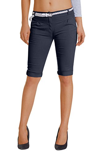 Damen Shorts, (454), Grösse:38 M, Farbe:Dunkelblau