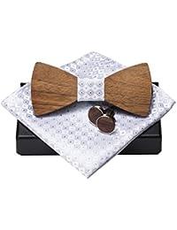 Amzchoice KOOWI La Corbata de Madera Hecha a Mano del Lazo de Madera de Los Hombres Creativos Handcrafted para la Boda o el Desgaste Diario
