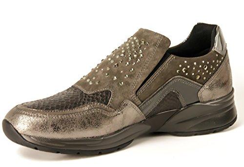 Pantofola con strass Nero Giardini art. A616033D-101 6033 Grigio Antracite Grigio