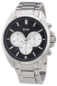 Hugo Boss - 1512883 - Montre Homme - Quartz Chronographe - Cadran Noir - Bracelet Acier Argent