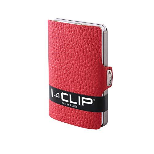 I-CLIP ® Geldbörse Rindsleder (In 5 Variationen Erhältlich) (Rot)