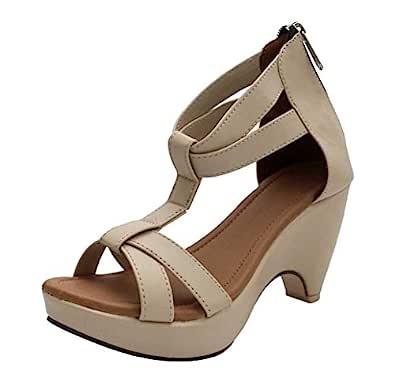 ROCKSY Women's Beige Fashion Sandals-3.5 UK/India (36 EU) (rock-3003be)